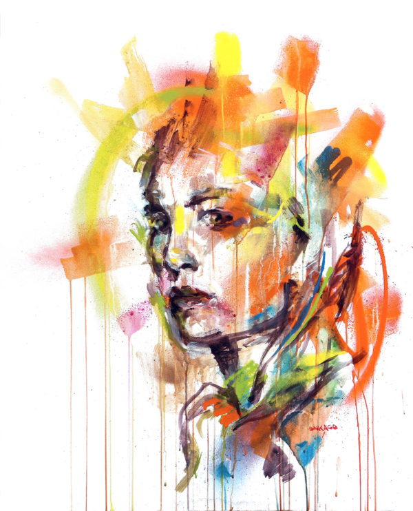 """Peinture art à la bombe graffiti - """"Défiance"""" par l'artiste Enkage"""