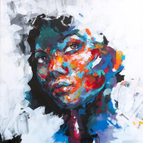 Peinture couleurs d'un portrait de rêve(s) par Enkage