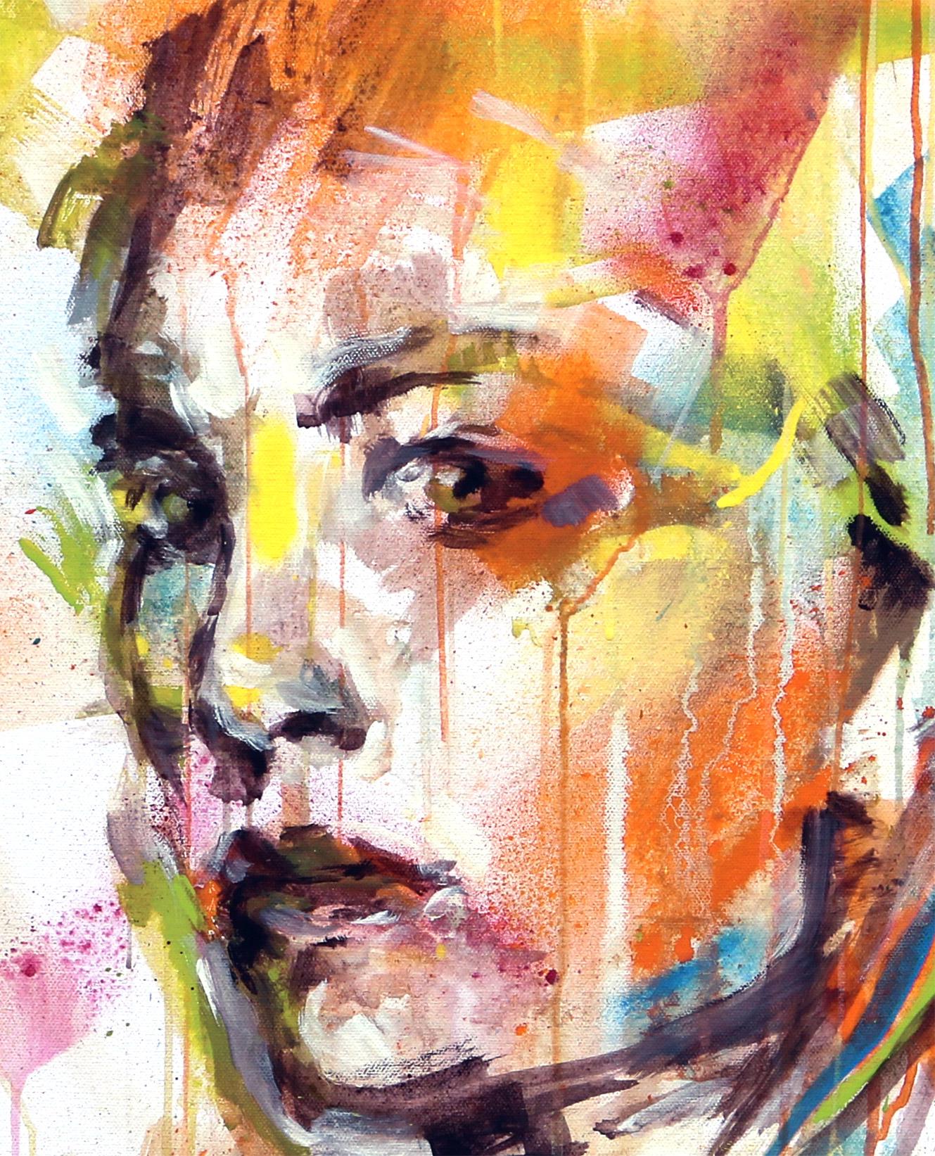"""Peinture art à la bombe graffiti - """"Défiance"""" détail - Par Enkage"""