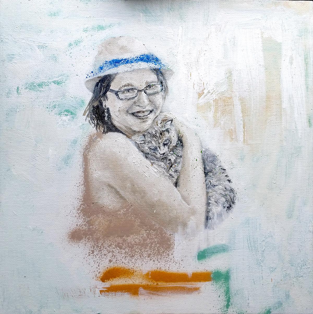 Portrait sur toile en cadeau par le portraitiste Enkage