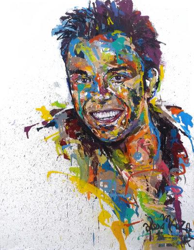 Tableau portrait d'homme sur commande par l'artiste Enkage