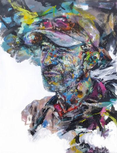 Peinture portrait homme par l'artiste peintre Enkage