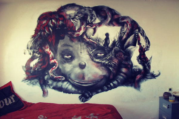 Enkage artiste peintre décoration d'intérieur peinture gothique chambre enfant