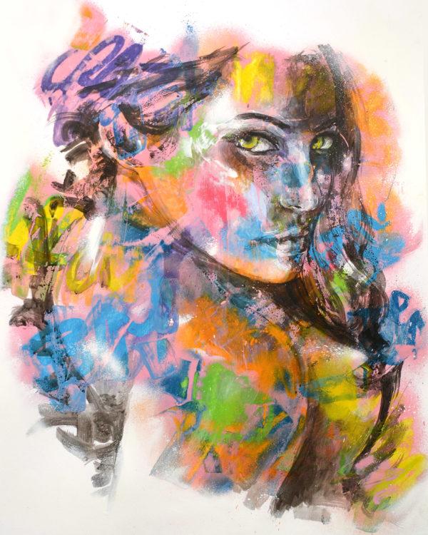 Peinture colorée de femme par Enkage
