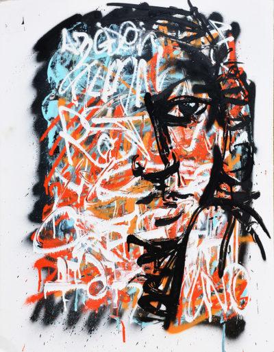 Peinture street art: Des mots d'esprit par l'artiste Enkage