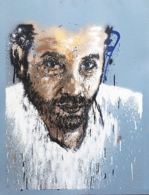 Peinture regard de l'homme par Enakge