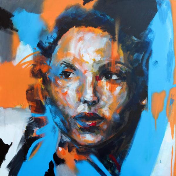 """Peinture contemporaine: """"Une femme, histoire de nous"""" Par Enkage"""