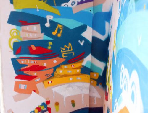 Décoration d'appartement en peinture sur le thème de Marseille