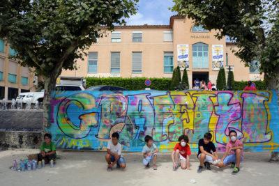 Découverte du graffiti: Atelier créatif graffiti, peinture participative sur Marseille, Aix en provence, Venelles par le graffeur Enkage