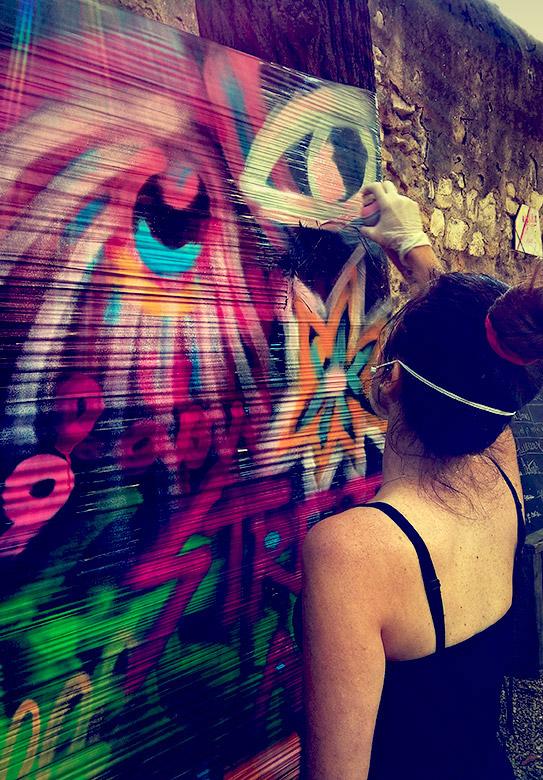 Atelier graffiti animé par l'artiste Enkage
