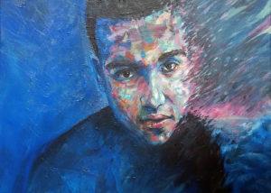 Portrait peinture en cadeau par l'artiste Enkage