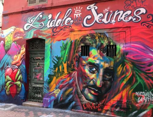 Fresque graffiti hommage à Johnny Hallyday