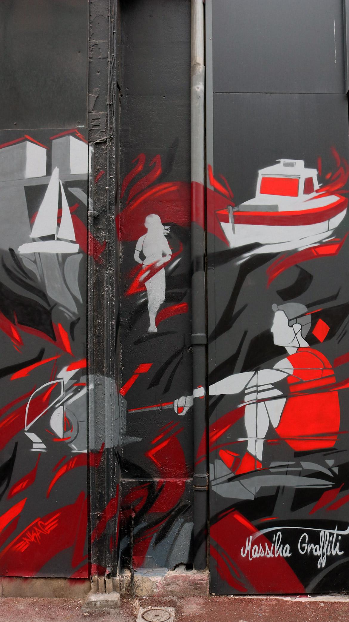 Graffiti décoration commerce: Salle de sport par Enkage