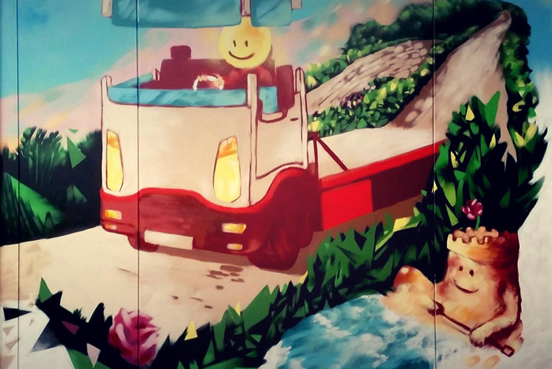 Déco Mur Extérieur En Peinture Graffiti Par L Artiste Enkage