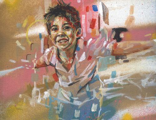 Portrait peinture enfant sur commande