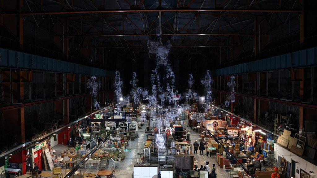 Exposition Borondo: anamorphose incroyable saisie en photographie par Enkage
