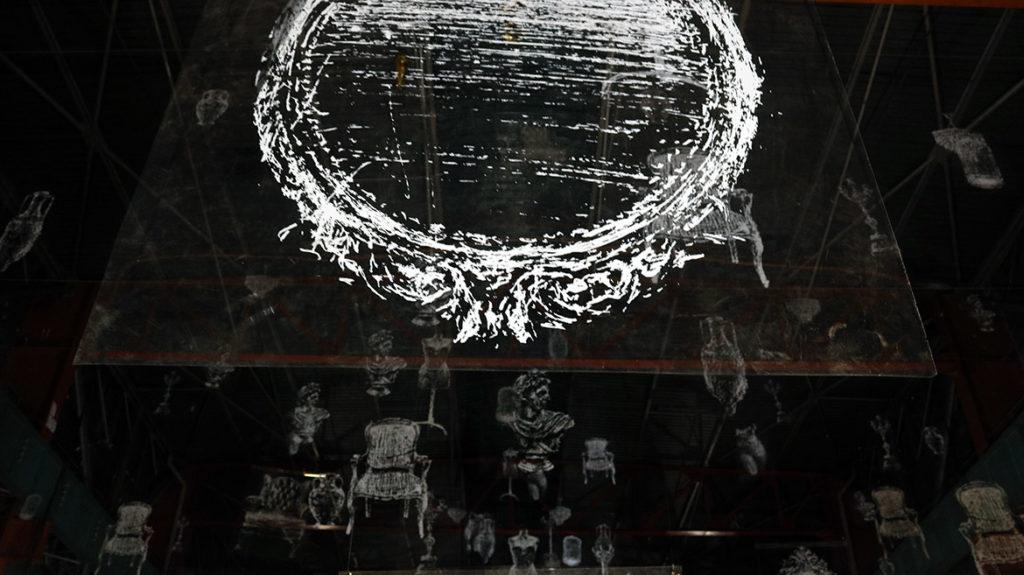 Exposition Borondo: objet de l'anamorphose