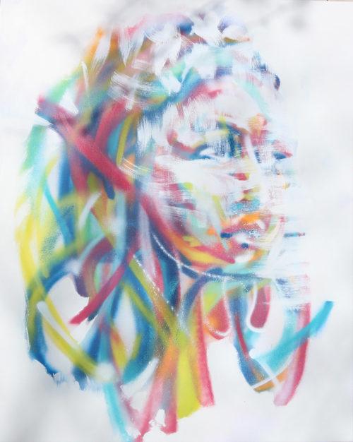 "Enkage peinture sur toile bombe graffiti ""La fin des illusions"""