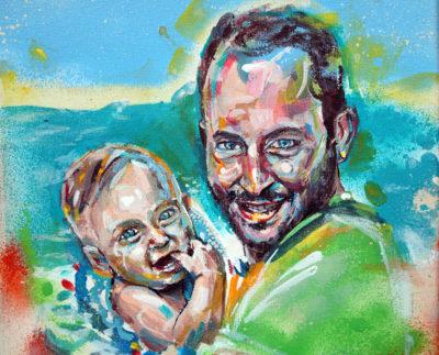 Tableau photo en peinture par l'artiste peintre Enkage