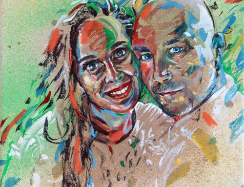 Portrait sur commande par un artiste peintre