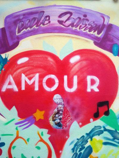 Fresque graffiti sur le thème de l'amour MP 2018 par Enkage