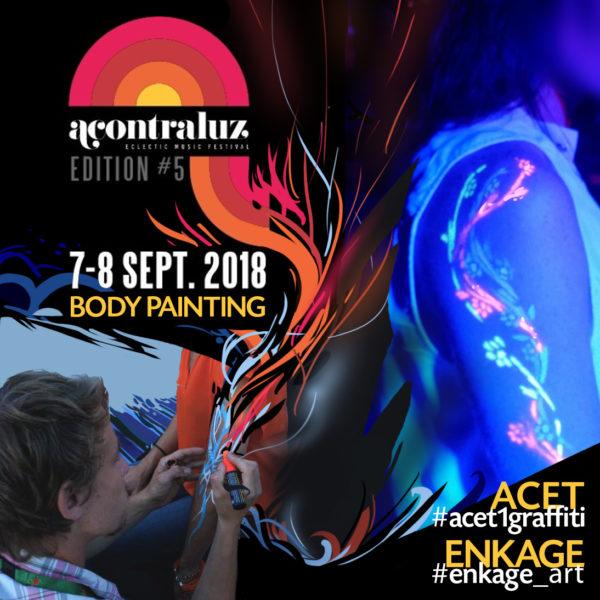 Body Painting Acontraluz Festival à MArseille avec Enkage et Acet