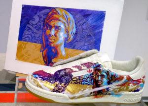 Customisation sneakers événementiel prestation Adidas par Enkage