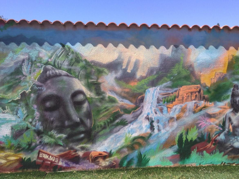 Peinture jardin: décoration de paysage esprit bouddha