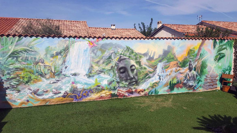 Peinture Jardin Décoration De Paysage Esprit Bouddha Par L