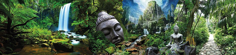 Décoration peinture jardin Bouddha: Recherche du peintre Enkage
