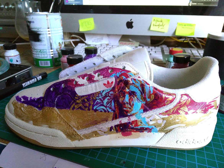 sneaker de collection peinturecustomisation basket par Enkage