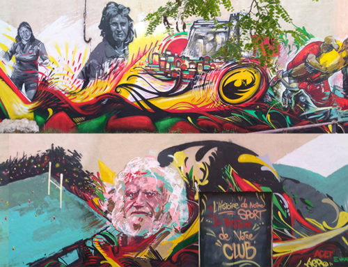 Peinture street art club de sport et Rugby