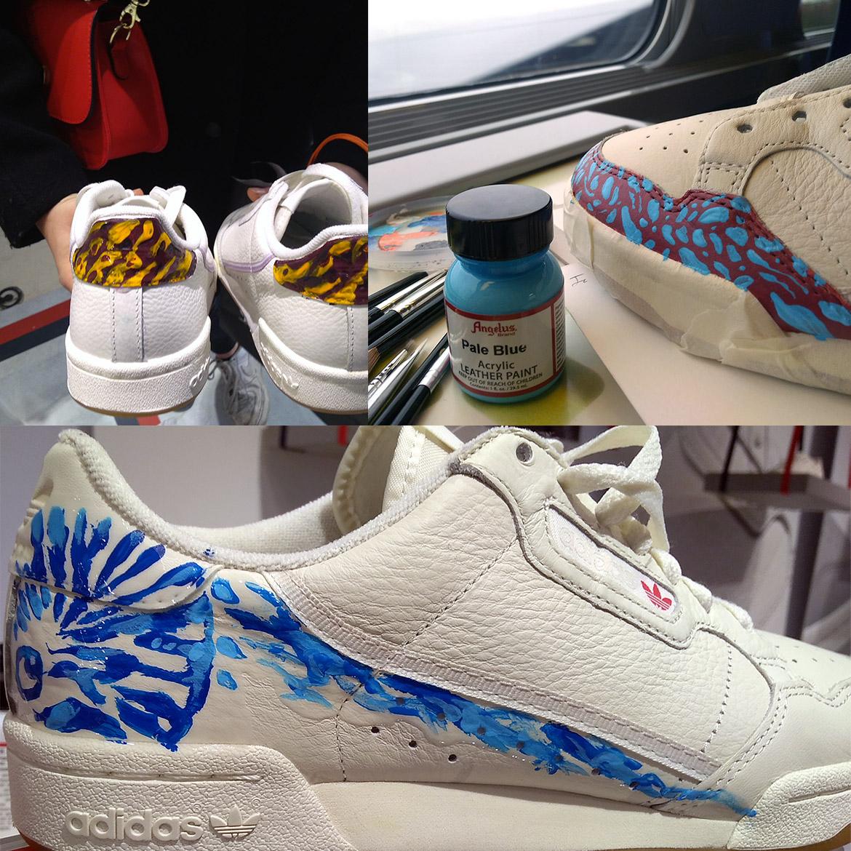 Idée pour peindre sa paire de sneakers et baskets de collection, par Enkage