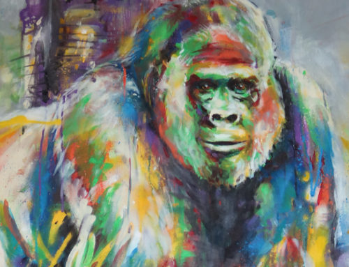 Peinture gorille street art par un artiste