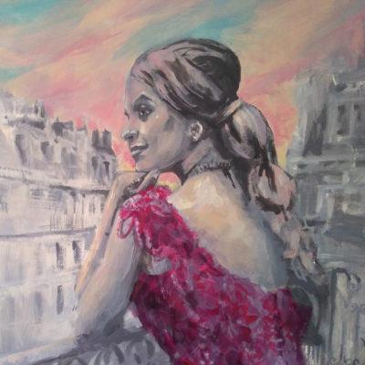 Alia Chergui portrait photo peinture par Enkage