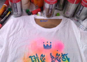 Customisation de tee shirts graffiti pour une bar mitzvah