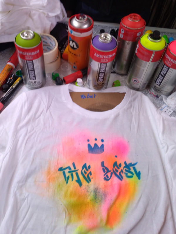 Customisation de tee shirts graffiti pour une bar mitzvah