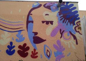 Fresque en peinture sur Meyreuil et inauguration de la fresque avec Enkage et Ka divers