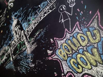 Peinture au plafond à la craie, Toulouse artistique par Enkage