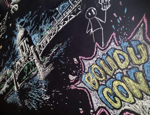 Peinture sur plafond à la craie : décoration artistique
