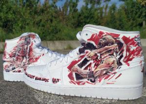 Sneakers customisation Michael Jordan Star Basket-ball