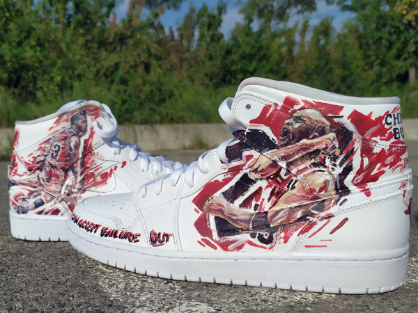 Sneakers customisation Michael Jordan Star Basket-ball
