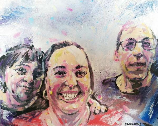 Commande de portrait de famille