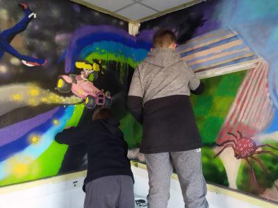 Atelier peinture enfant pour un centre social en paca