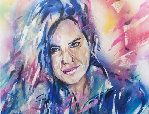 Portrait par un artiste street art
