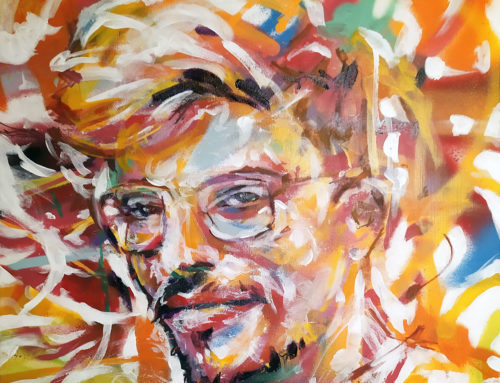 Peinture pop moderne – commande de portrait