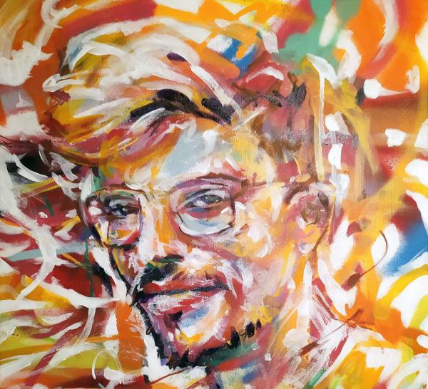 portrait peinture pop moderne par l'artiste Enkage