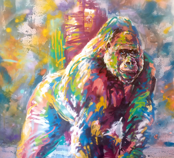 Street art animalier en peinture par Enkage