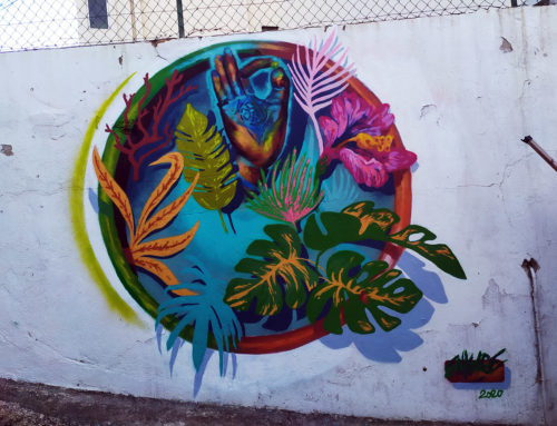 Décoration végétale et street art