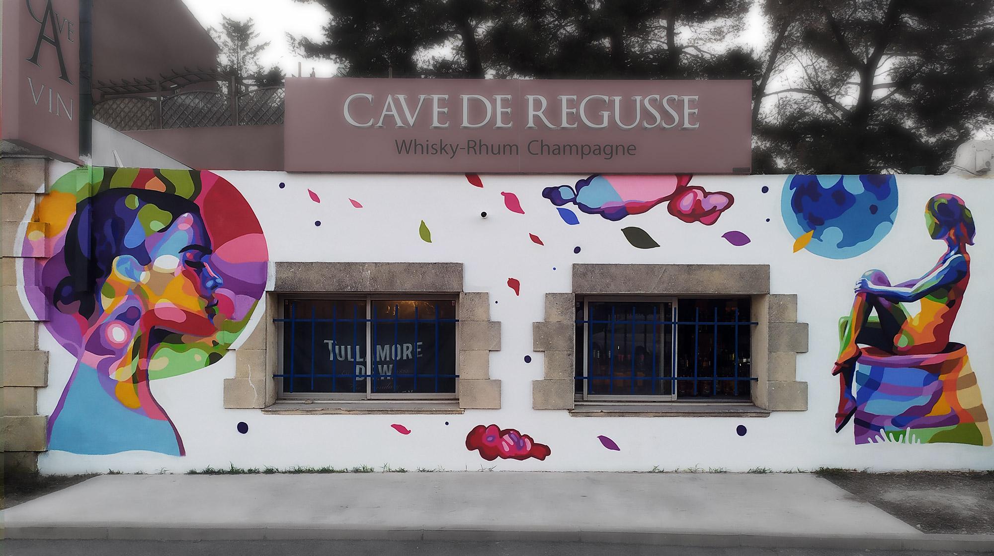 Artiste street art fresque décoration par Enkage à Venelles
